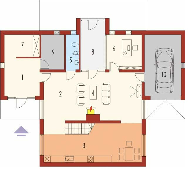 Cochera planos de casas modernas for Plano casa minimalista 3 dormitorios