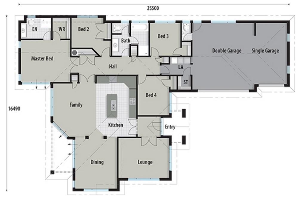 Sala de estar planos de casas modernas for Casa moderna 50 metros cuadrados
