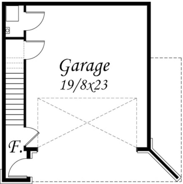 Plano de casa pequeña de 59 metros cuadrados