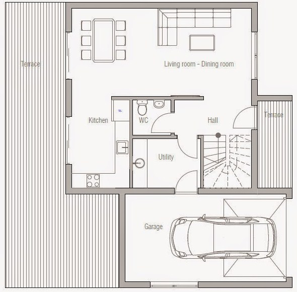Planos de casas de dos pisos gratis for Planos gratis
