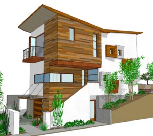 3 pisos planos de casas modernas for Planos de casas de 3 pisos