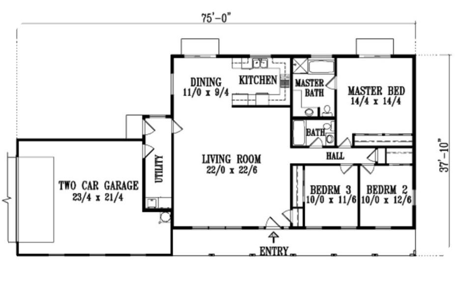 casa simple en 1 piso y con muchas aberturas