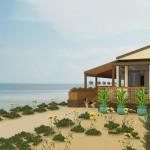 Plano de acogedora casa de playa