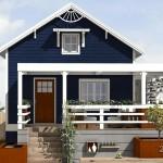 Plano de cabaña sencilla con 2 habitaciones