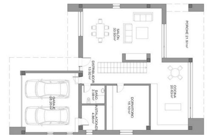 Casa contemporanea planos