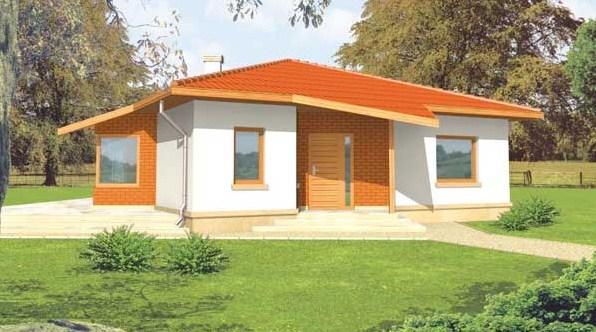 Casa de 2 dormitorios con techo a 4 aguas