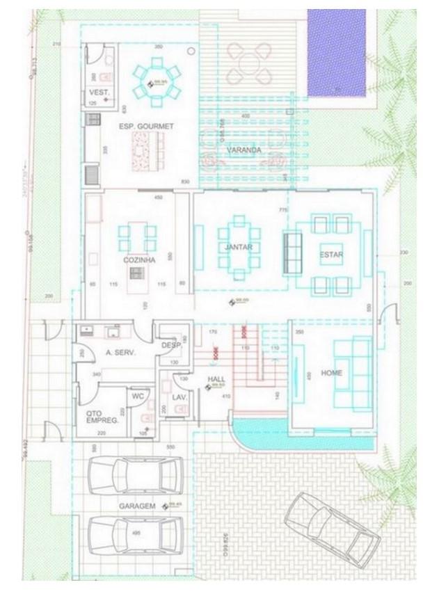 Casa de 4 dormitorios planos