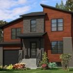 Casa moderna con ladrillos ala vista
