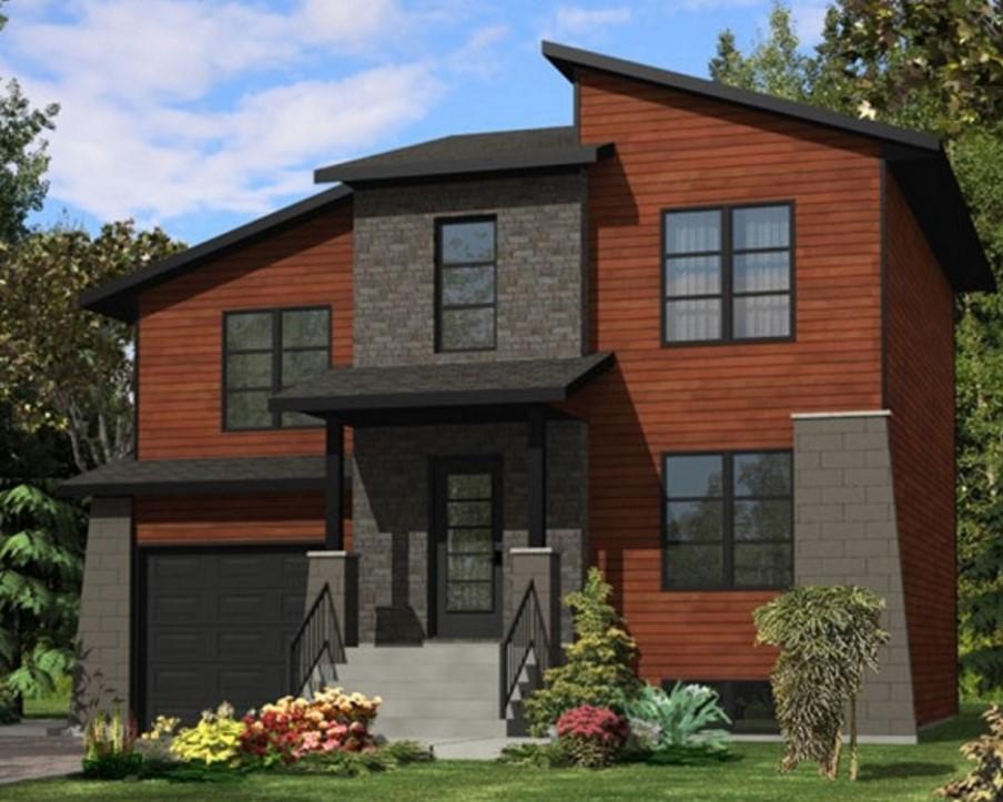 Ladrillos vista planos de casas modernas for Planos de viviendas modernas