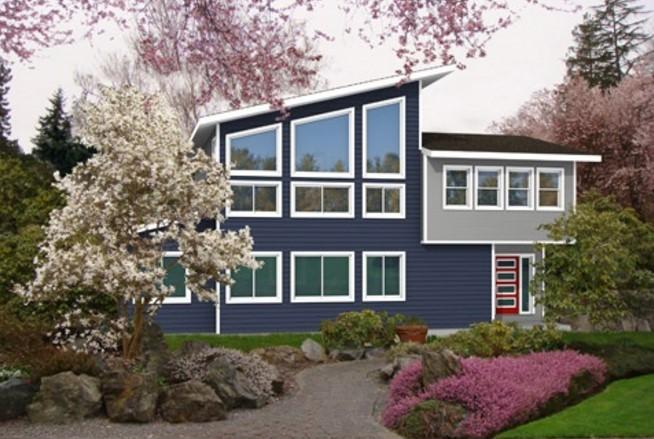 Casa moderna de 200 metros cuadrados con dos pisos y 3 dormitorios