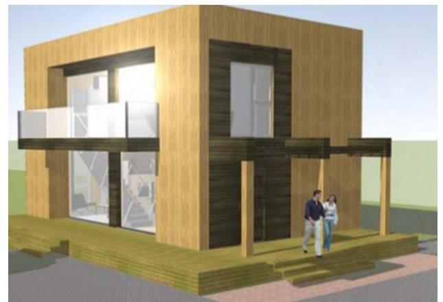 Casa revestida de madera