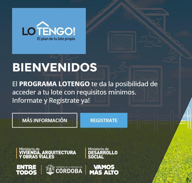 Como acceder al plan de terrenos Lo Tengo Cordoba Argentina