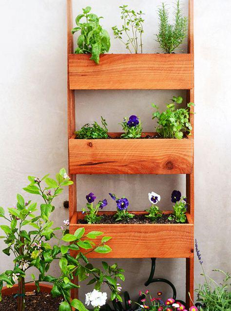 Ideas para jardines verticales caseros - Como hacer un jardin vertical de interior ...