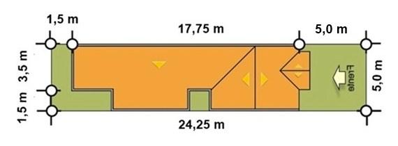 Diseño de casa de 5 metros de frente