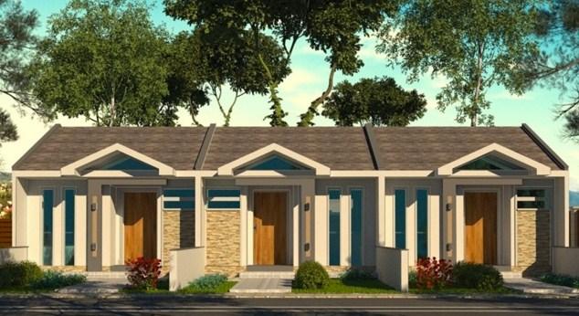 Fachadas de casas angostas