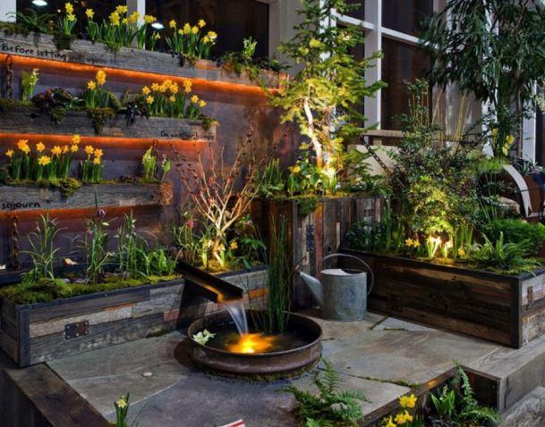 Ideas para jardines verticales en terrazas planos de for Plantas modernas para jardin