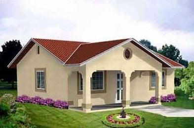 Modelo de casa sencilla 1 piso