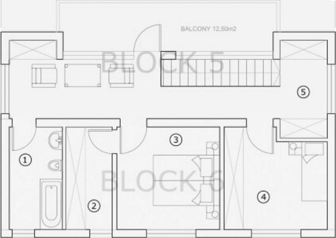 Plano de casa revestida de madera