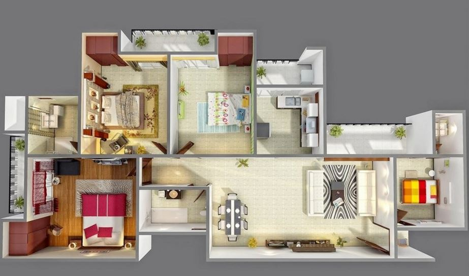 Plano De Departamento Moderno Planos De Casas Modernas