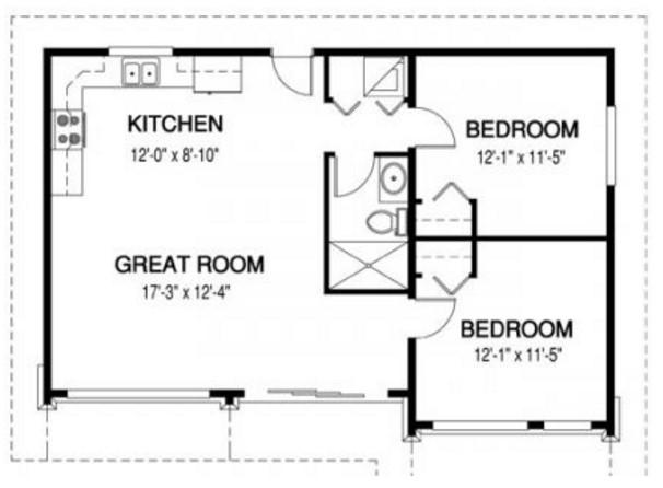 casa pequeña minimalista planos