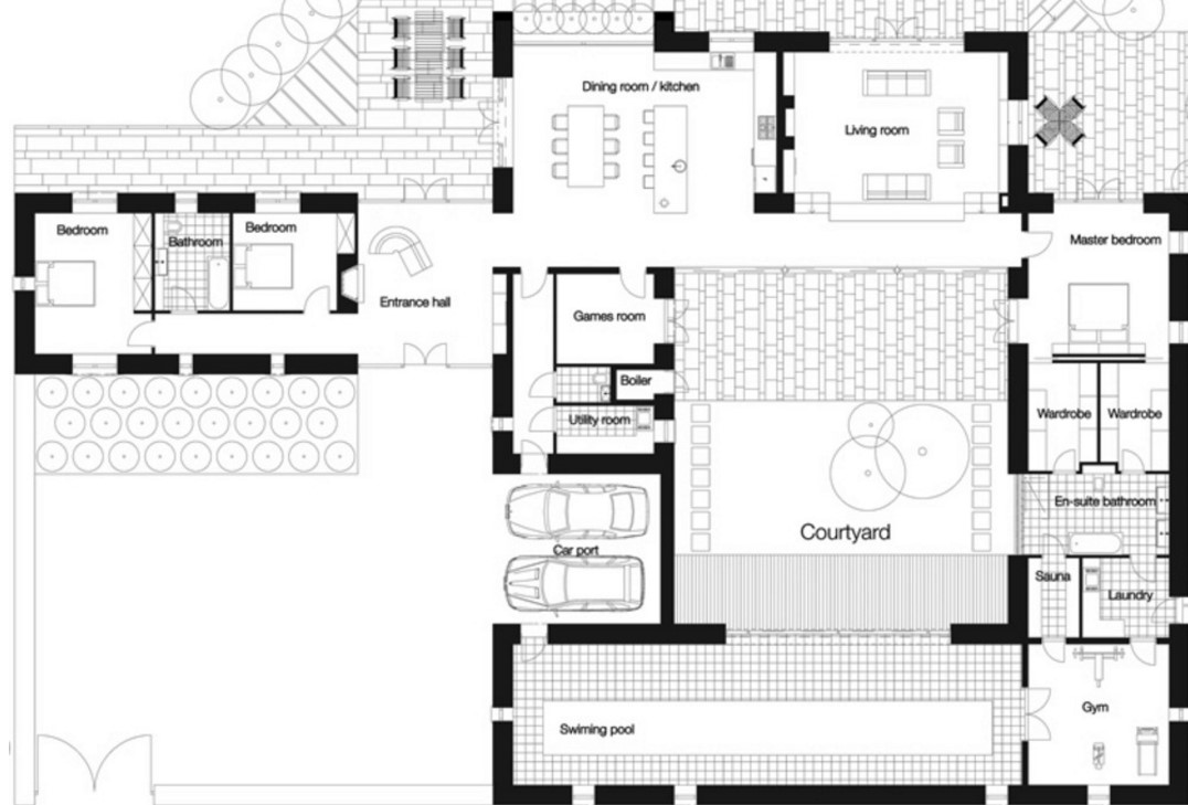 Revestimiento exterior para fachadas planos de casas - Revestimiento en piedra para exterior ...