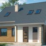 Casa con techo alto