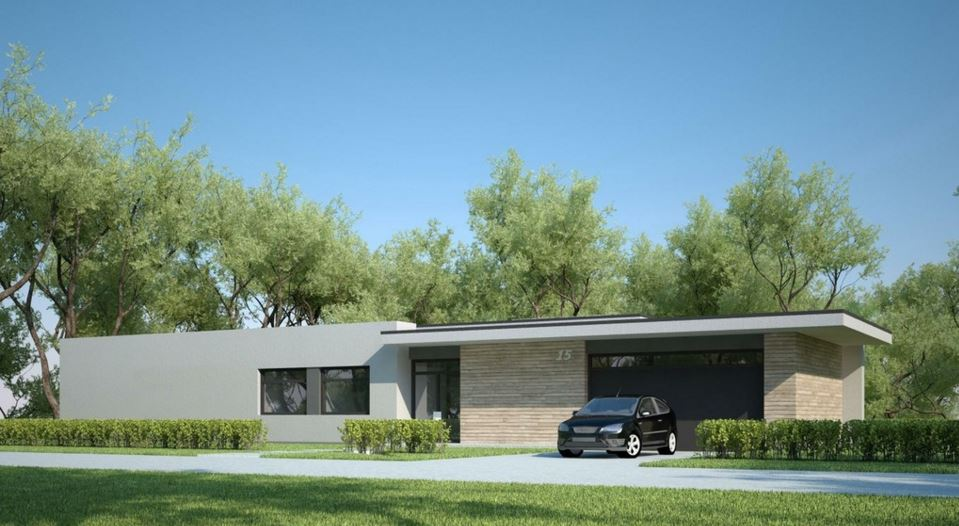 Casa minimalista una planta for Casas modernas de una planta minimalistas