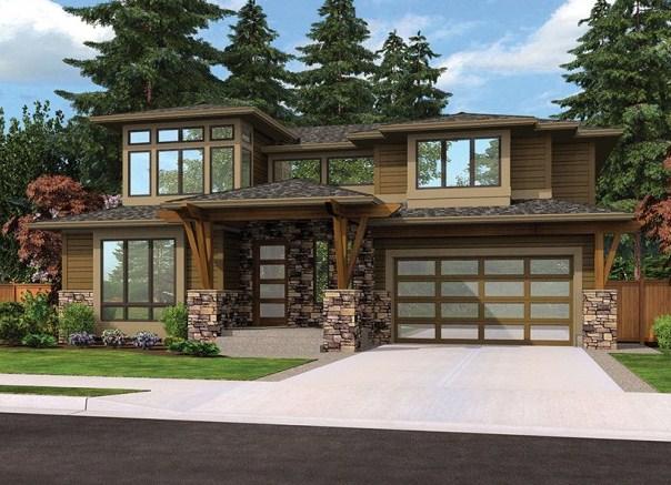 Modelo de casa con cochera grande