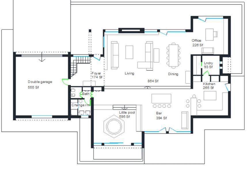 Modelos de casas de 2 plantas con 4 dormitorios for Planos de casas para construir de una planta