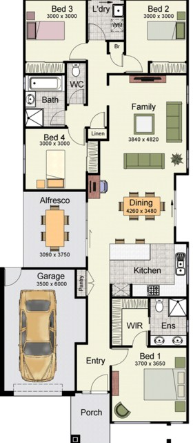 planos de casas modernas urbanas