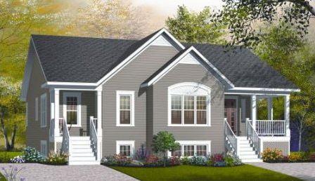 Plano de casa con entrada doble y departamento