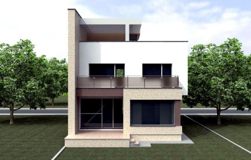 Vivienda 2 plantas moderna casas con planos for Plantas de viviendas modernas