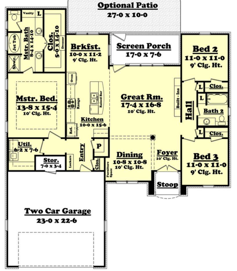 plano de casa con medidas planos de casas modernas