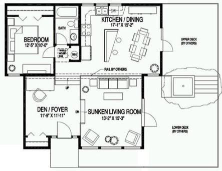 Plano de casa peque a moderna for Planos de oficinas pequenas