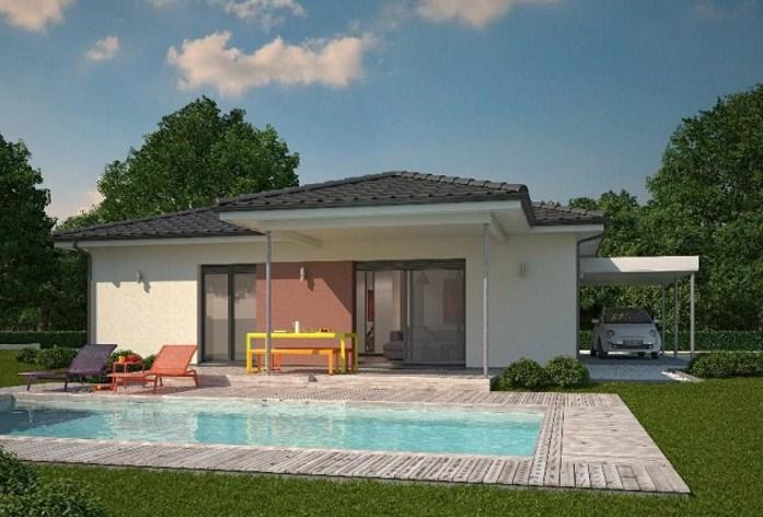 planos de casas modernas con vista frontal y lateral