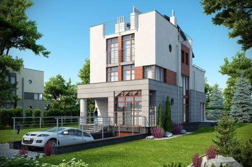 Plano de casa con cochera subterranea planos de casas for Casas estrechas y alargadas