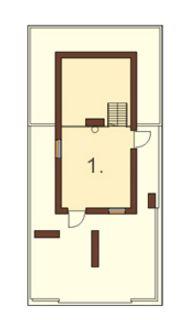Casas largas y estrechas con terraza