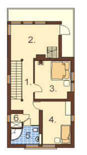 Plano de casa angosta y alargada planos de casas modernas for Casas estrechas
