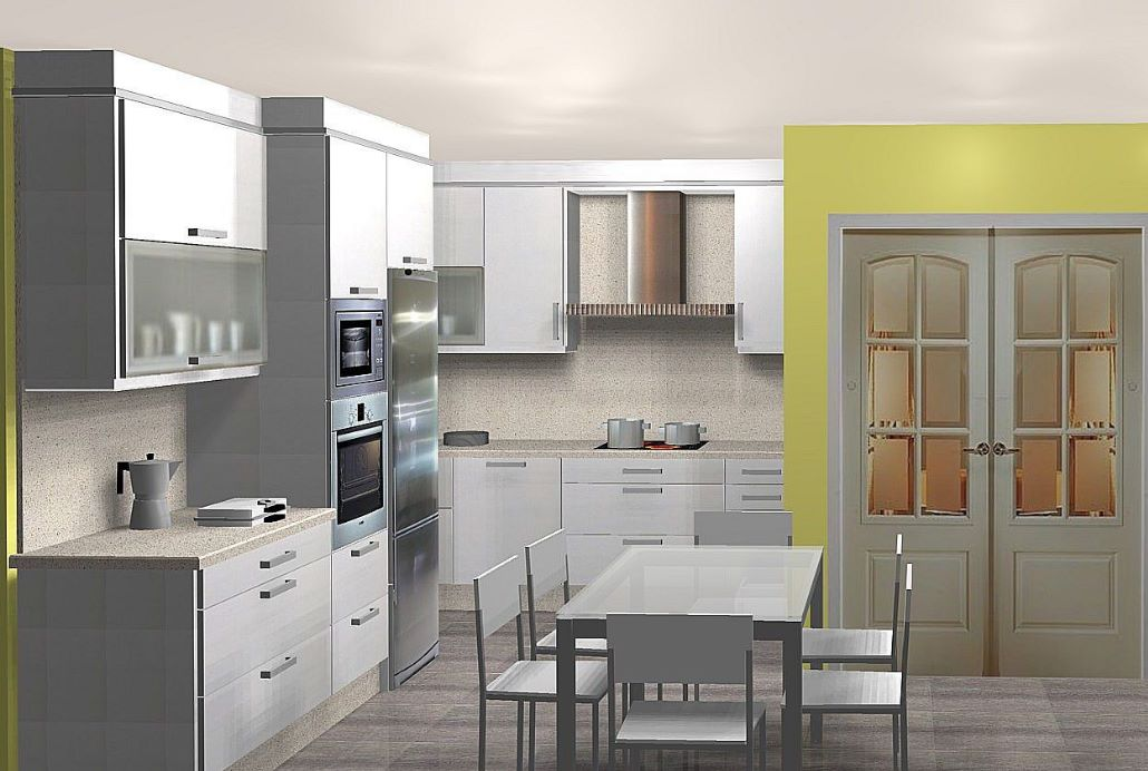 cocina con isla planos de casas modernas