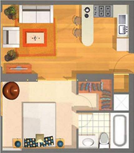 Como construir en 40 metros cuadrados for Vivir en 40 metros cuadrados