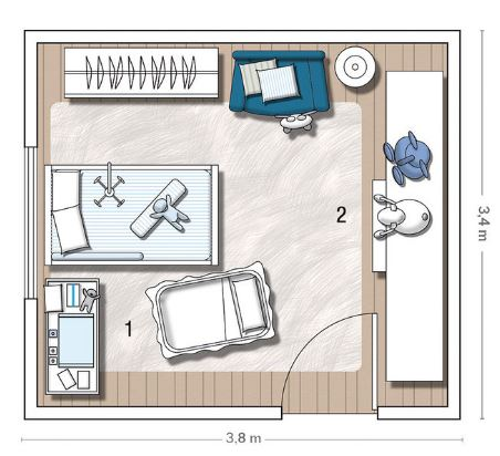 Medidas minimas para habitacion individual planos de for Cuanto es un cuarto