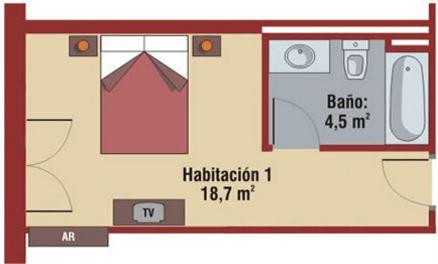 Dimensiones minimas de un bao great cuantos metros for Cuanto es un cuarto de hora
