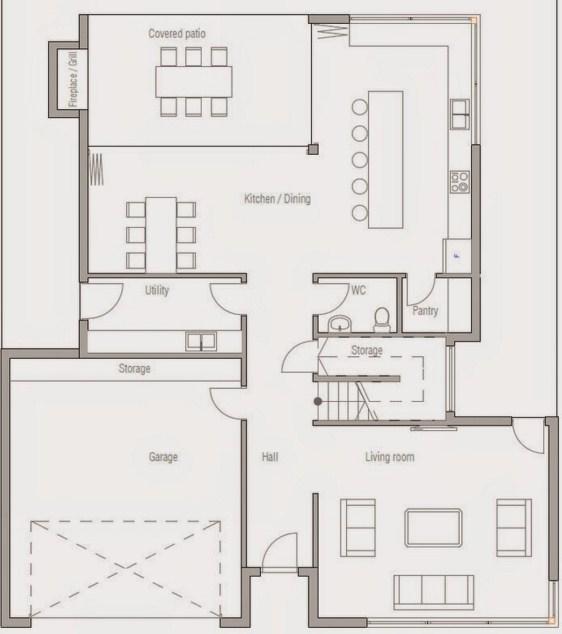 Cochera doble planos de casas modernas for Disenos de casas de dos plantas