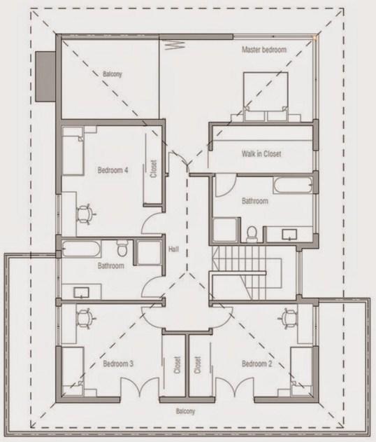Diseño de casa grande de dos plantas
