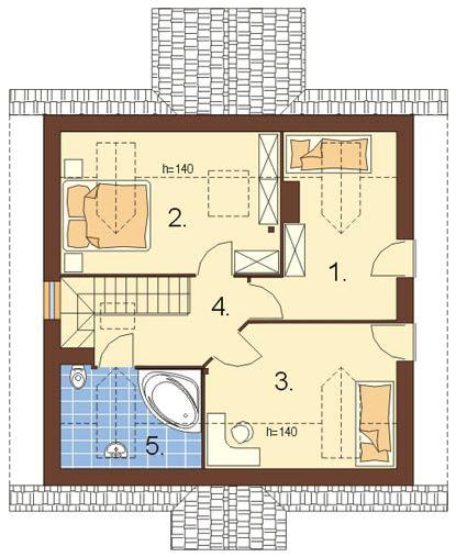 Baño Bajo Escalera Plano:Plano De Casa Sencilla