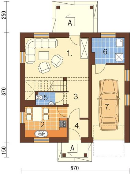 Plano de casa sencilla planos de casas modernas for Casa de una planta sencilla