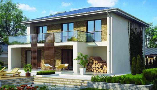 Planos de casas de dos plantas con medidas y fachadas con Fachadas para casas de dos plantas