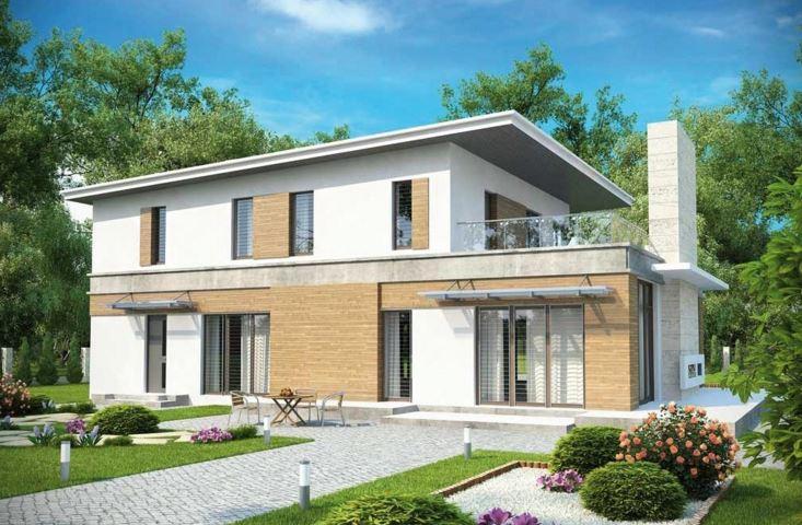 Plano de casa moderna con oficina for Fachadas modernas para oficinas
