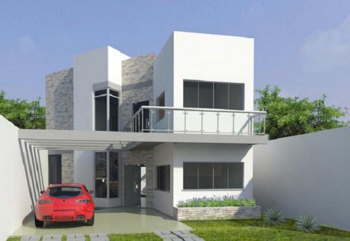 plano de vivienda de dos plantas