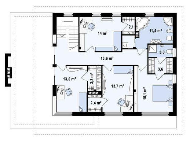 Plano de casa planos de casas modernas for Oficinas planta arquitectonica